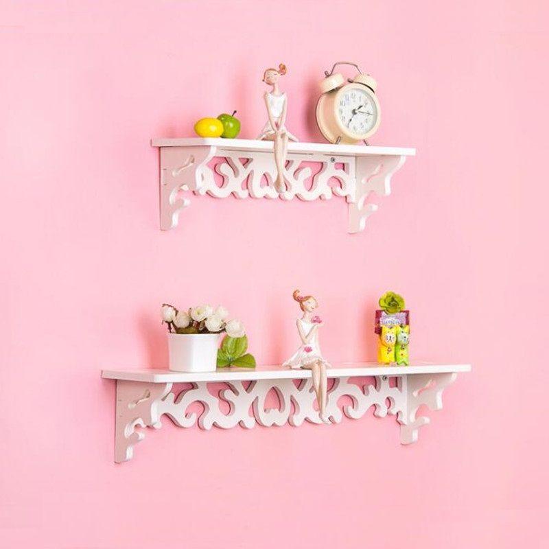 Decorative Wall Mounted Hanging TV Set-top Storage Rack Living Room ...