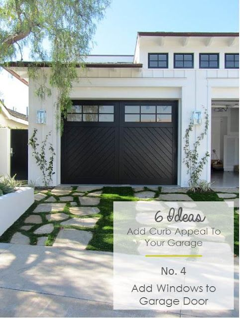 6 Ideas To Add Curb Appeal To Garages Katrina Blair Interior Design Small Home Style Modern Livingkatrina Blair Garage Door Design Modern Garage Doors Suburban House
