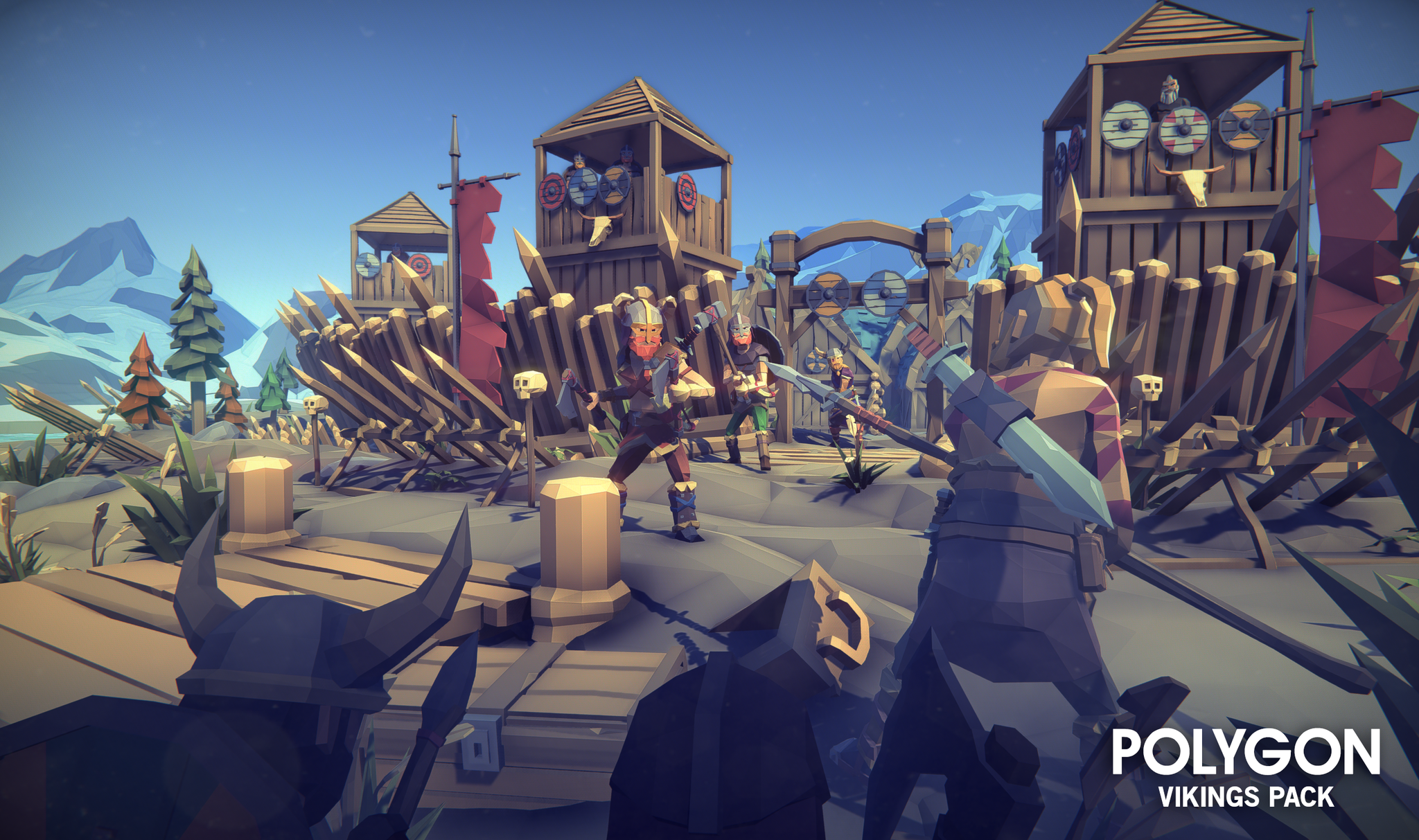 POLYGON - Vikings Pack | Low Poly Art in 2019 | Low poly