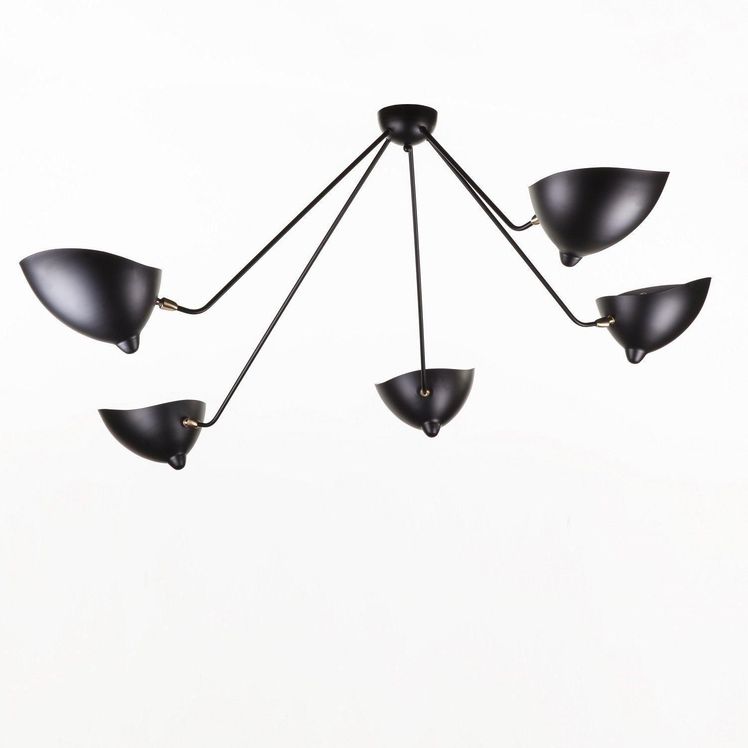 Mid Century Modern Reproduction 5 Arm Mcl Sp5 Spider Ceiling Lamp