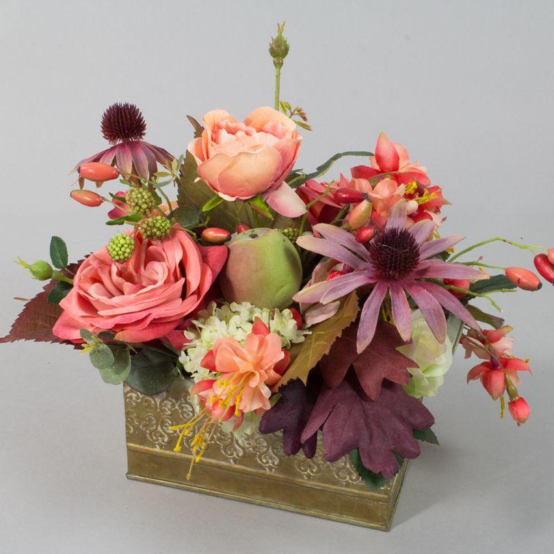 Herbst dekoration blumen gestecke silkflowers for Gestecke fa r weihnachten selber machen