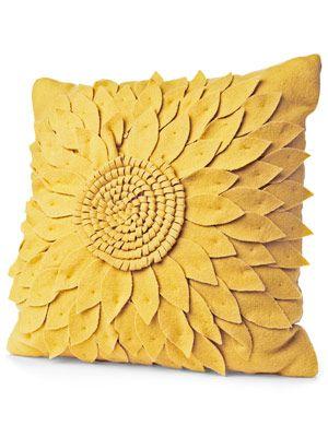 Wool Blend Flower Pillow Target Sunflower Room Sunflower Pillow Sunflower Decor