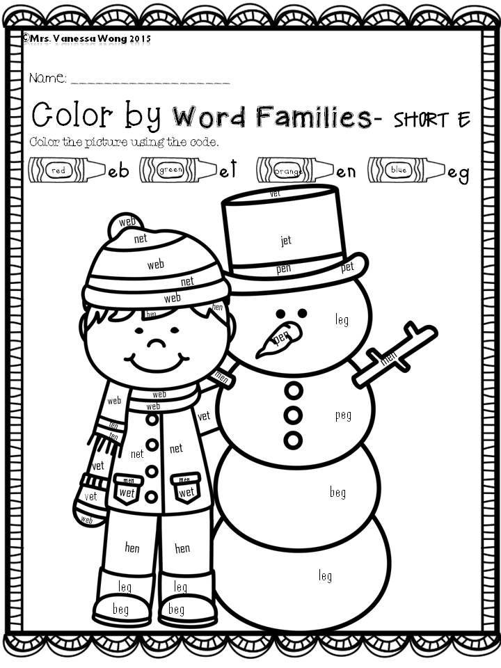 winter math and literacy worksheets and activities no prep kindergarten kindergarten colors. Black Bedroom Furniture Sets. Home Design Ideas