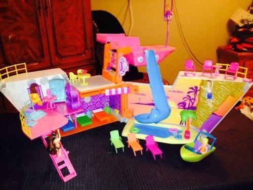 Polly Pocket Mall Resort Cruise Ship Roller Coaster Travel Holder Polly Pocket Roller Coaster Childhood Toys