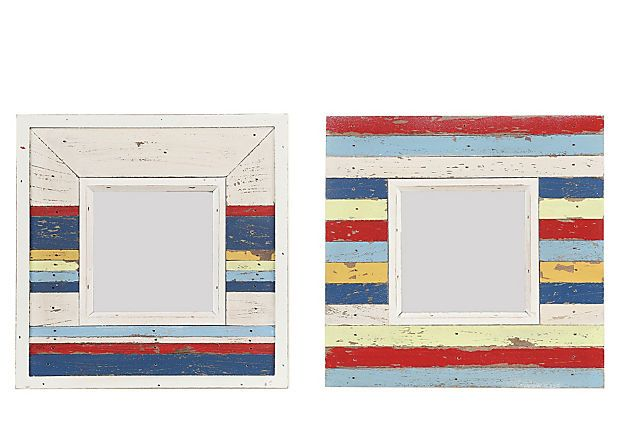 nautical frames bring the yellow navy and pop of red together - Nautical Frames