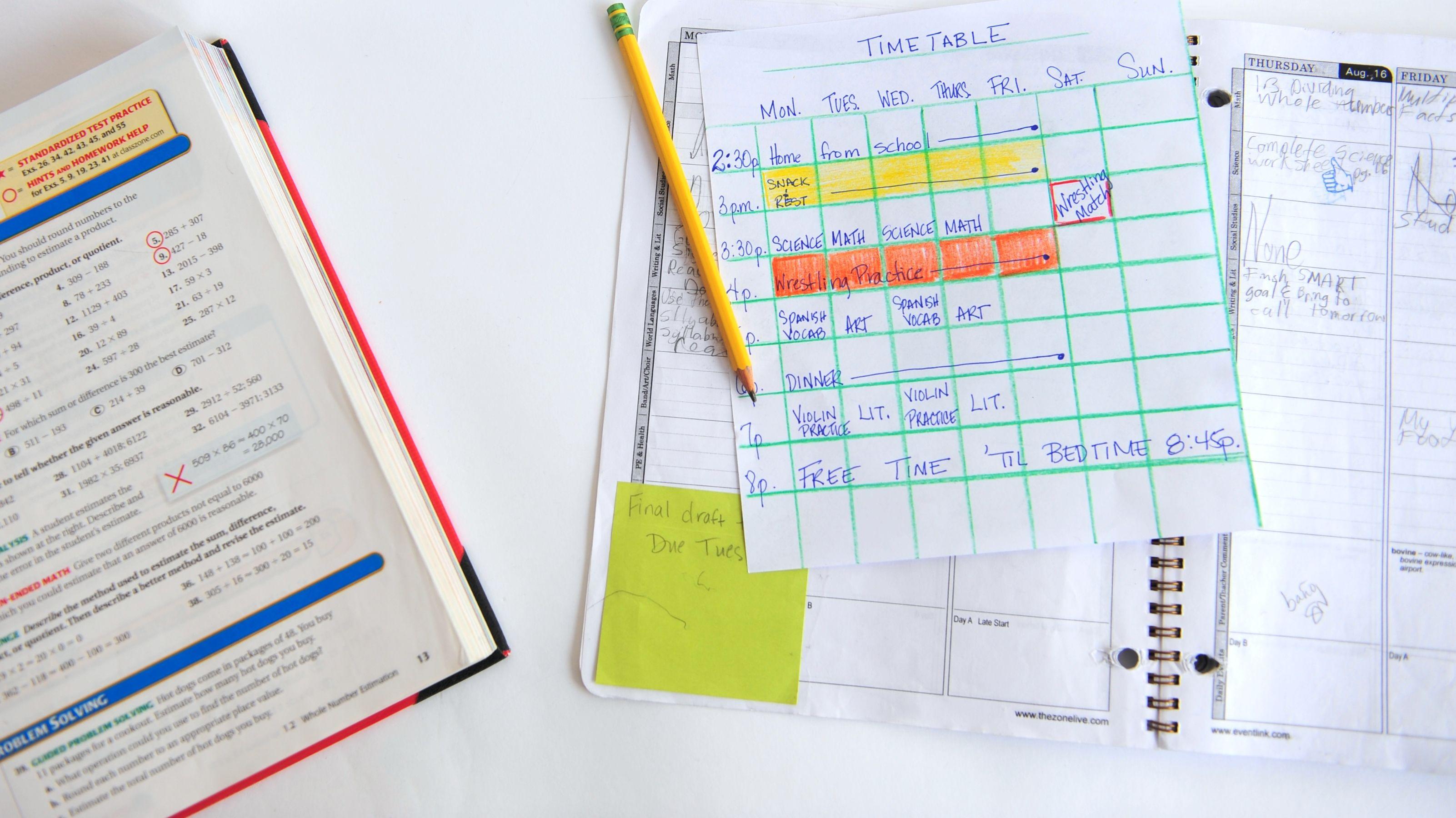 Make A Study Timetable  School Study Motivation And Study