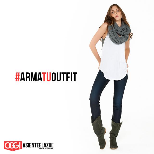 Un outfit sencillo siempre es buena idea. #OggiJeans #Mexico #MyStyle #Moda #SienteElAzul #StreetStyle #DailyOutfit #OOTD #Denim #Jeans #Mezclilla #ArmaTuOutfit