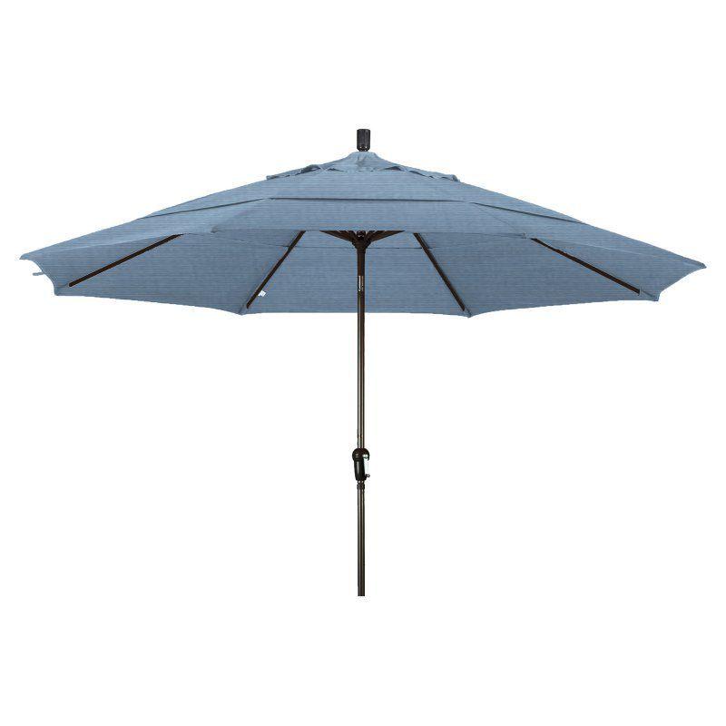 California Umbrella 11 ft. Aluminum Auto Tilt Patio Umbrella