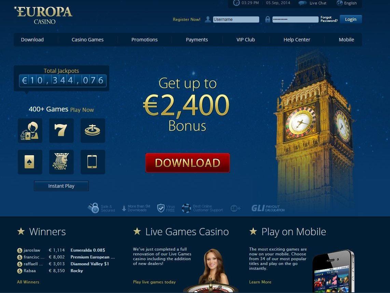 европа казино онлайн скачать