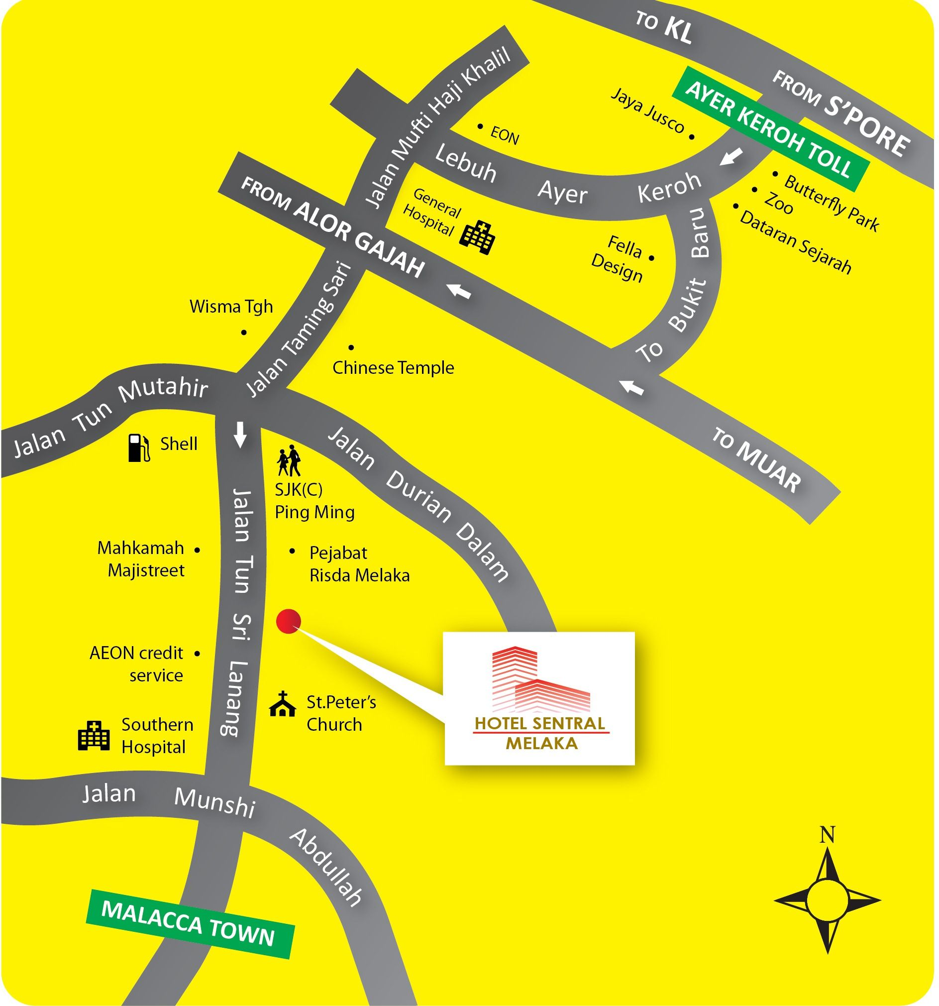 Hotel Sentral Melaka  Location Map  Follow us httpswww