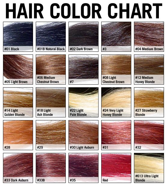 Levels Of Natural Hair Color