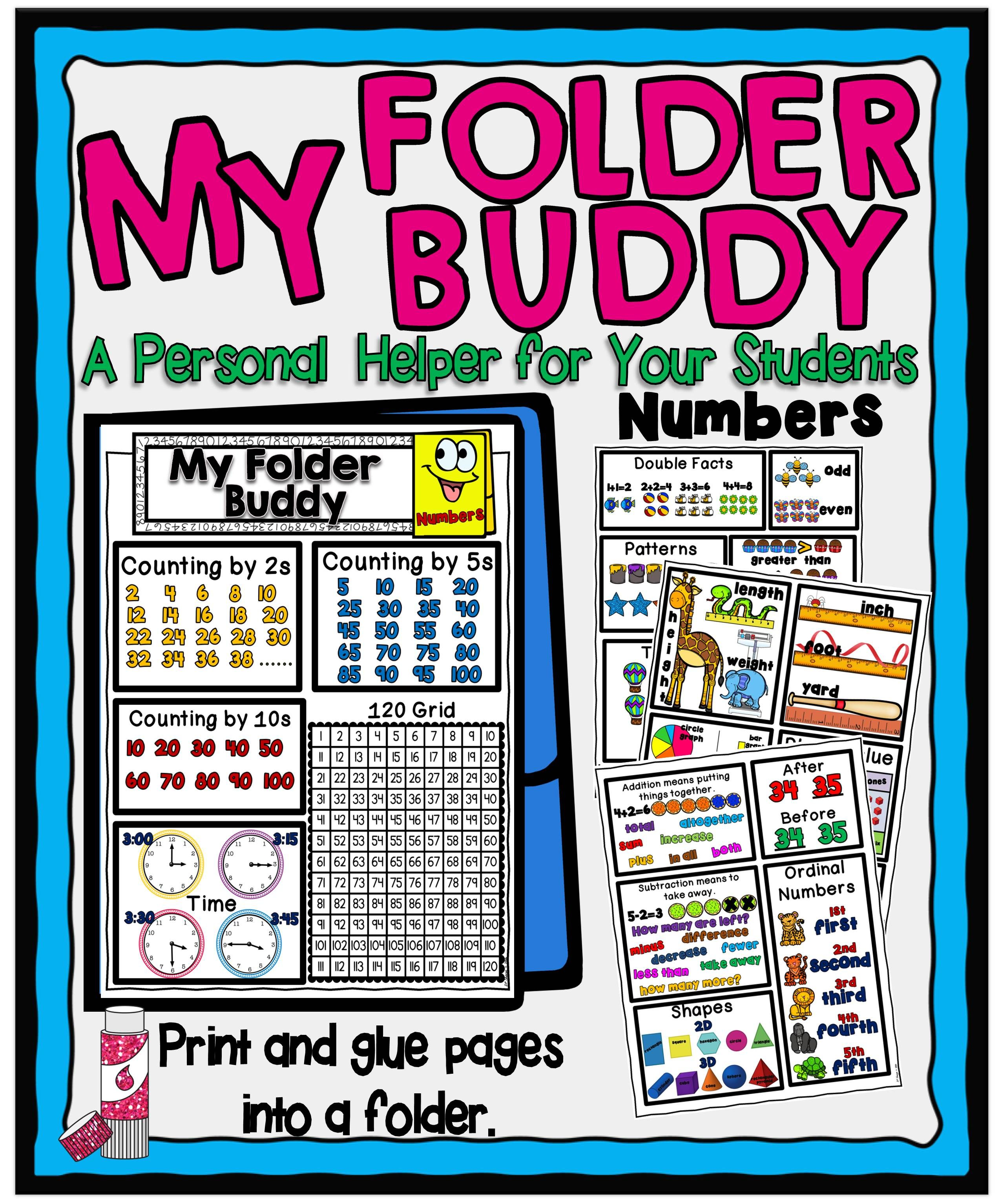 My Folder Buddy Is A Ready Helping Tool That Your Students