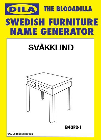Swedish Furniture Name Generator Ikea Your Name