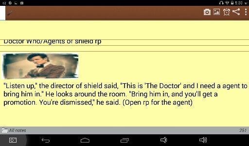 (Doctor Who/Agents of Shield open rp, I'm the Doctor)