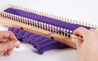 KB Loom Knitting with the All-n-One Loom Knitting Board Pattern Book