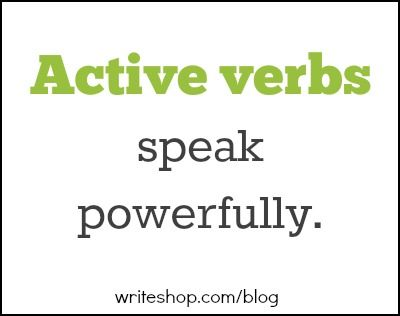 Why active verbs trump  - active verbs list