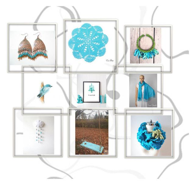 """""""Turquoise"""" by therusticpelican ❤ liked on Polyvore featuring rustic"""