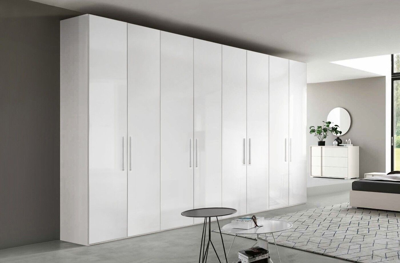 Armadio 8 Ante Ikea.Armadio 8 Ante Battenti Bianco Lucido Https Www Zenzeroshop It Armadio Moderno 8 Ante Battenti Finitura Bianco Tall Cabinet Storage Storage Cabinet Furniture