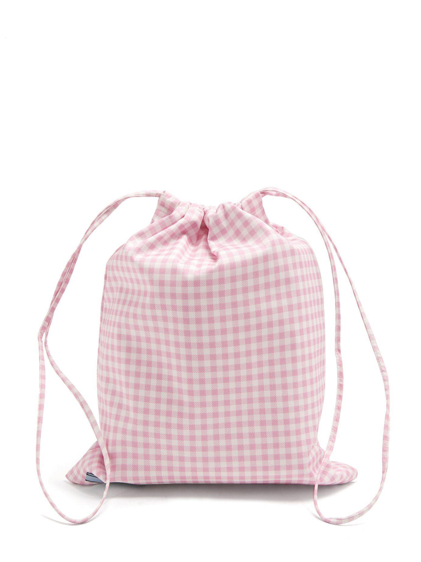 e36d61806f3 Click here to buy Prada Gingham drawstring wash bag at MATCHESFASHION.COM