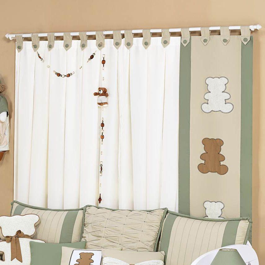 Cortina para quarto de beb baby pinterest cortinas - Cortinas para bebes ...