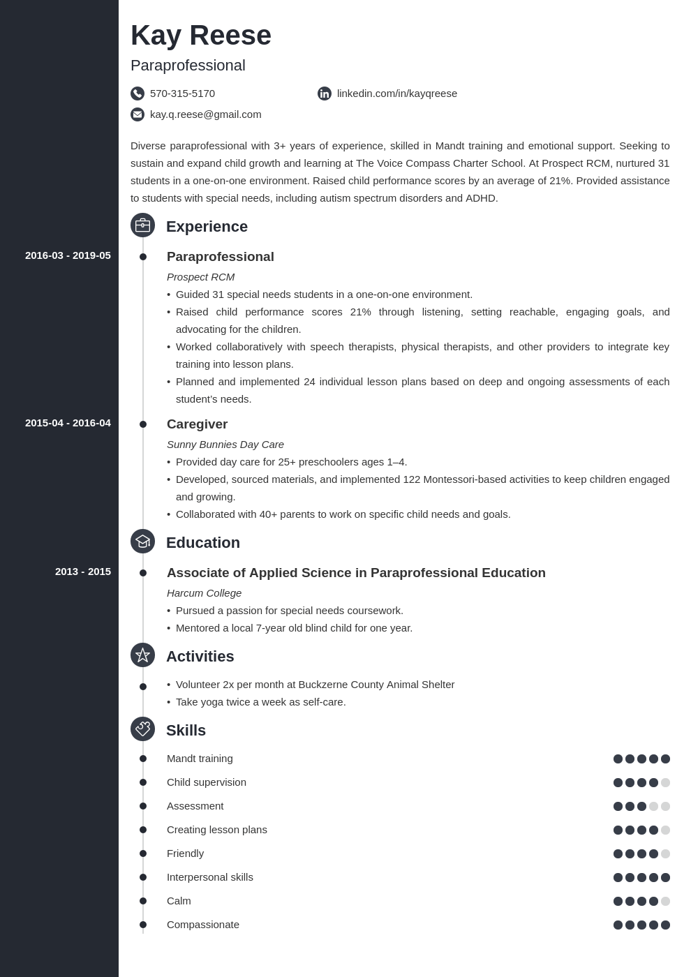 Paraprofessional Resume Example Template Concept Teacher Resume Examples Resume Examples Dentist Resume