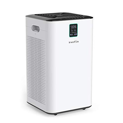Inofia Air Purifier With True Hepa Air Filter Wi Fi Intelligent Control Air Cleaner For Large Room For Spaces Up To 1056 Sq Ft Perfect For Home Office With
