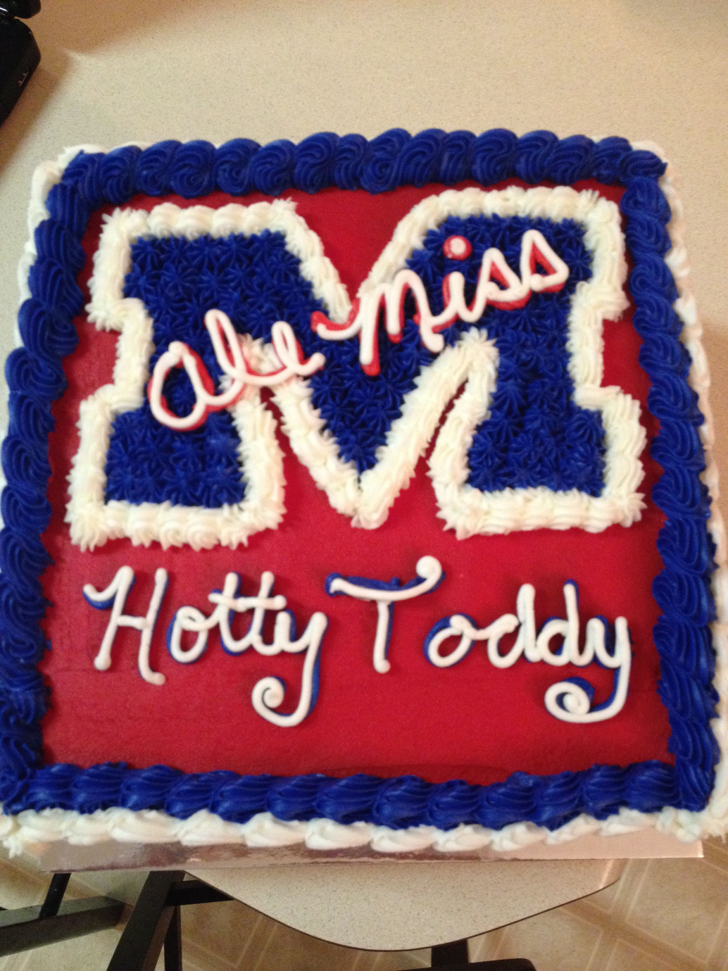 Incredible Ole Miss Cake Miss Cake Brave Cakes Hotty Toddy Funny Birthday Cards Online Fluifree Goldxyz