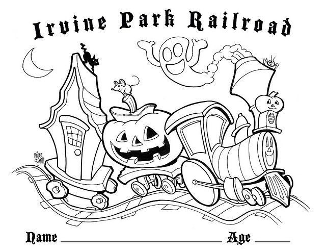 Irvine Park Railroad Halloween Coloring Pages Coloring Pages Coloring Pages For Kids