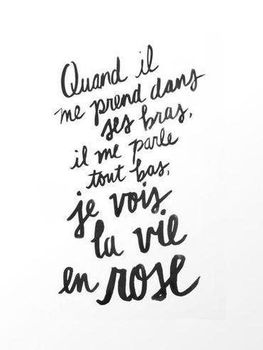 Quand Il Me Prend Dans Ses Bras : quand, prend, Inspirational, Quote:, Quand, Prend, Bras,, Parle, Rose., -...…, Rose,, Phrases, Français,, Paroles, Chansons