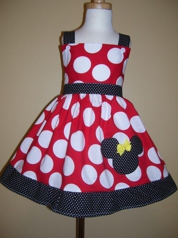 Minnie Mouse Dress | Party stuff | Pinterest | Kinder klamotten ...