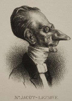 'Abrahama', detail from 'Mr. Jaco-Lefaive', by Honoré Daumier - Zimmerli Museum (New Brunswick) puts Daumier works on exhibit