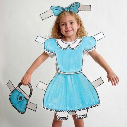 la reines blog Kostüm Als Papier-Puppe oder Paper-Doll in den Ka - mens halloween ideas