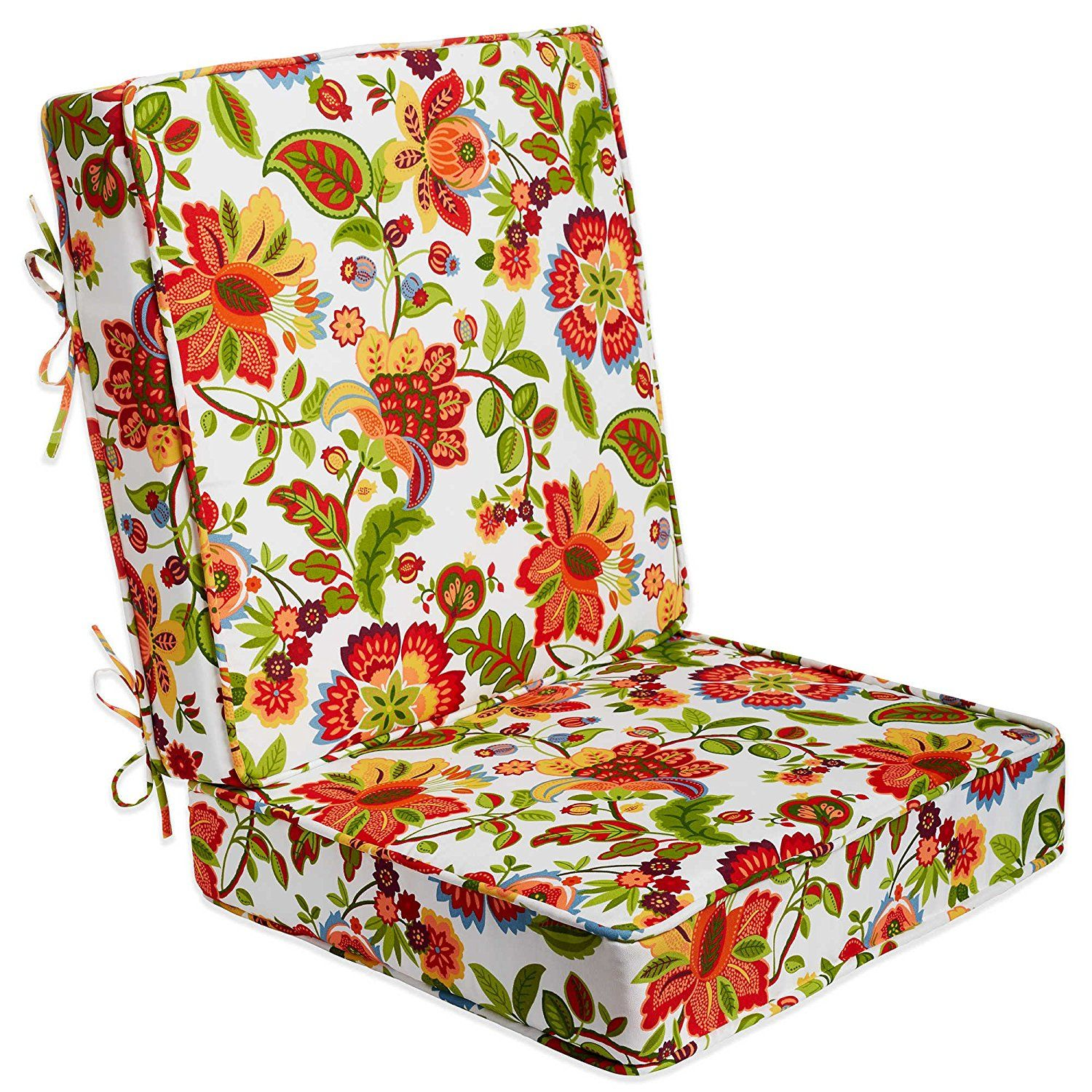 2Piece Vibrant Floral Pattern Outdoor Deep