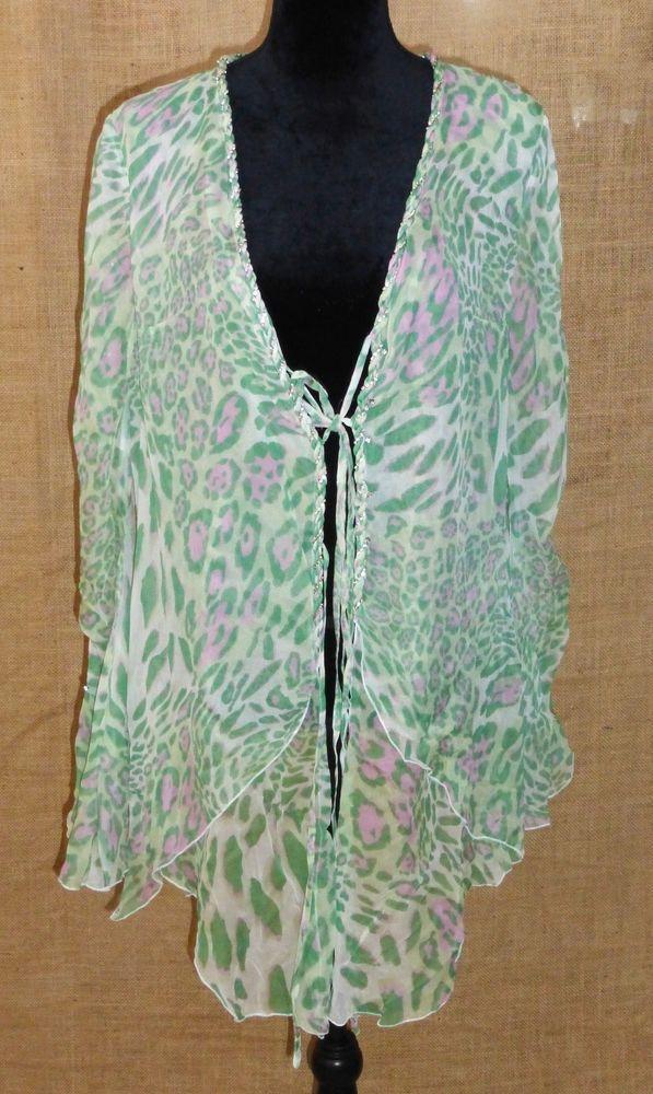 Sagaie France Tunic Long Sleeve Shirt 100 Silk Leopard Print Plus Size 5 Sagaie Blouse Clubwear Occasion Tops Clothes Fashion