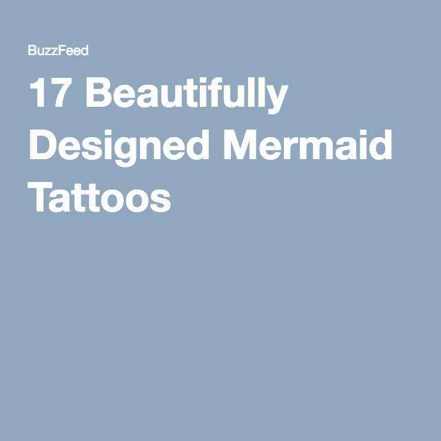17 Beautifully Designed Mermaid Tattoos