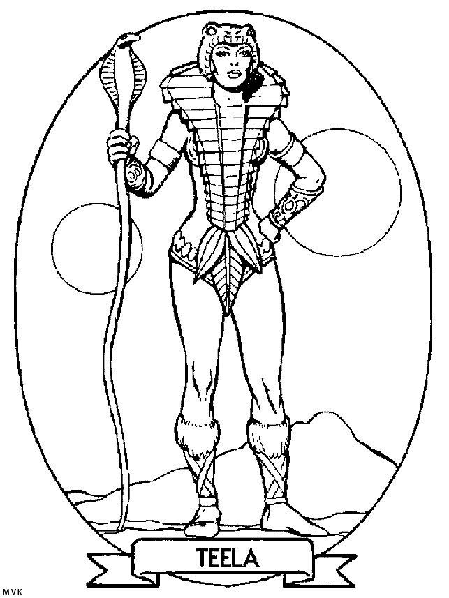 Teela coloring page He Man and the Masters of the Universe