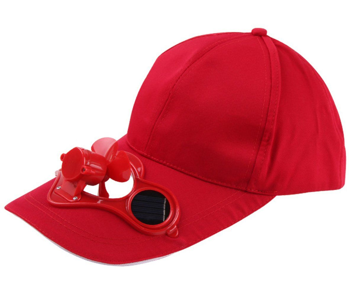 Arsmt Solar Powered Fan Cooling Solar Panel on the Cap Front Baseball Hat.  Solar powered bcd4a06373b8