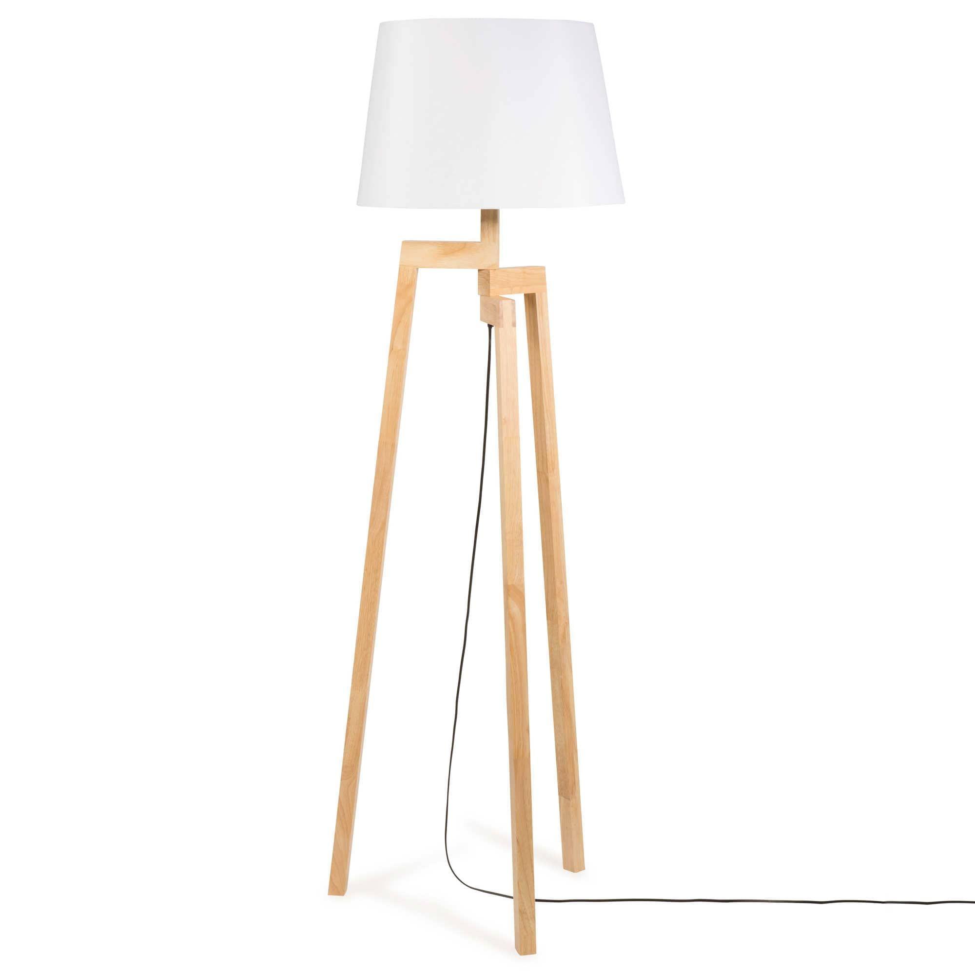 Wunderbar Holz Stehleuchte Referenz Von Dreibeinig Aus Holz, H 150 Cm, Vesuvio