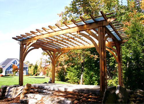Pergola with Acrylic Panels - Asked to create an outdoor pergola that would  protect the client - Pergola With Acrylic Panels - Asked To Create An Outdoor Pergola