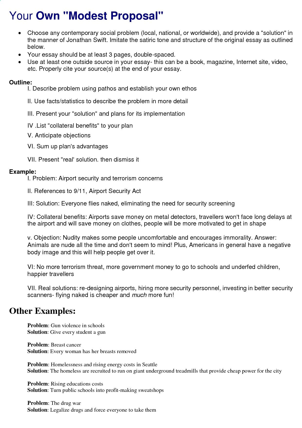 How To Start A Synthesis Essay Your Own Modest Proposal Essay Thesis Statements also Abraham Lincoln Essay Paper Your Own Modest Proposal  Write Paper Service  Pinterest  Essay  How To Start A Synthesis Essay