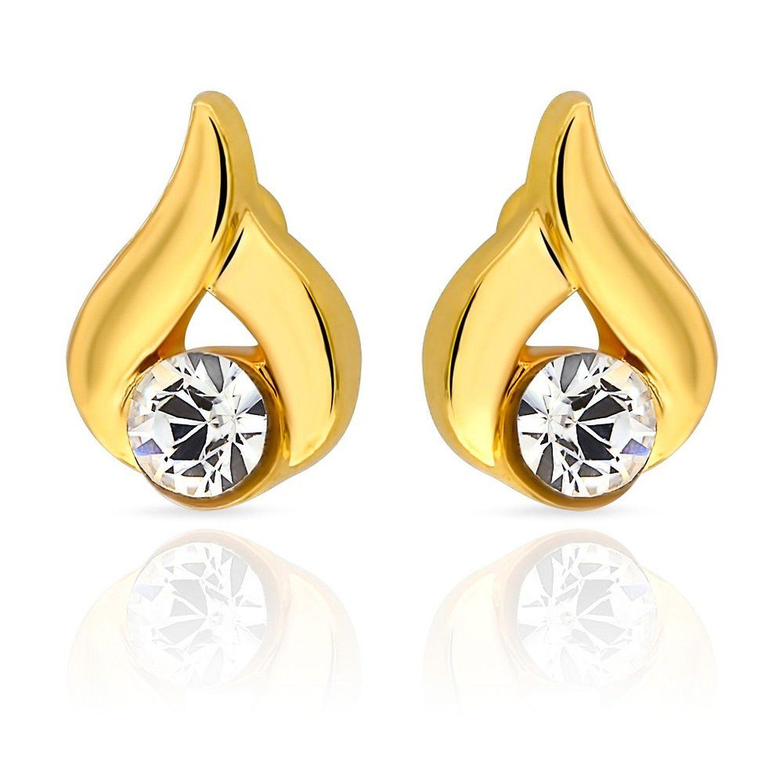 Buy Mahi Eita Collection White Gold Plated Crystal Stones Stud Earrings For  Womener1103681g Online