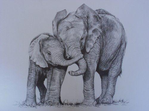 Einer Mutter Liegt Das Wohl Seines Kindes Sehr Am Herzen Und Will Nur Das Es Glucklich Ist Baby Elephant Tattoo Elephant Sketch Elephant Tattoos