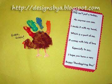 November Handprint Turkey ArtThanksgiving IdeasThanksgiving PlacematsThanksgiving ActivitiesKids