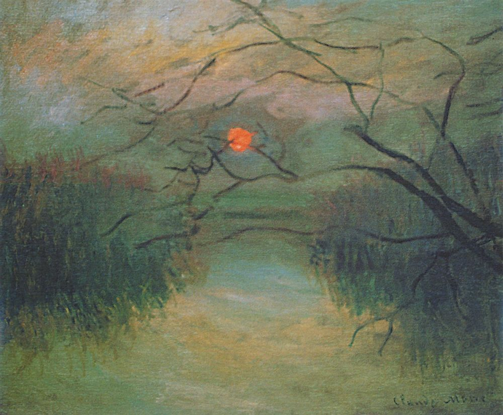 Coucher de soleil (C Monet - W 577) | Monet, Claude monet and Artist ...