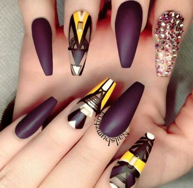 Love These Colors And Design Nails Pinterest Manicure