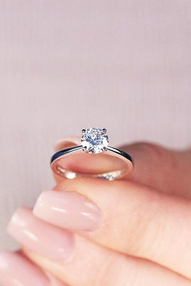 24 Beautiful Engagement Rings For A Perfect Proposal Solitaire Diamond Simple White
