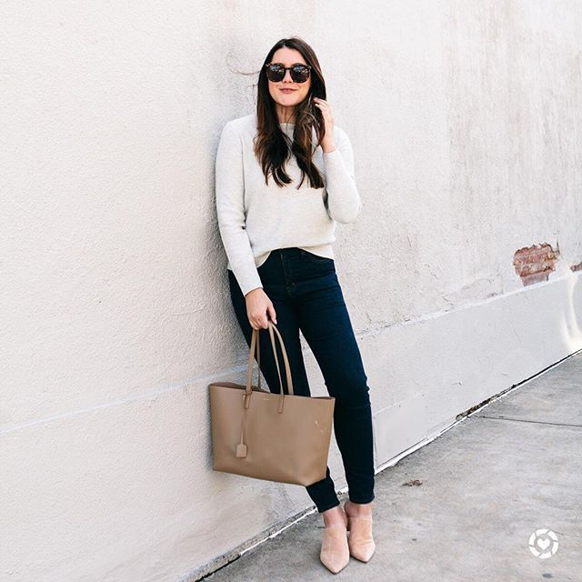 Its hair blowing season yall so forgive me for always touching the hair in the next few months.  also why are the simplest outfits also my favorite outfits? I love a good spring sweater like this one! Details on the blog or shop my daily looks by following me on the LIKEtoKNOW.it app http://liketk.it/2uXua #liketkit @liketoknow.it #LTKunder100 #nordstrom #jcrew