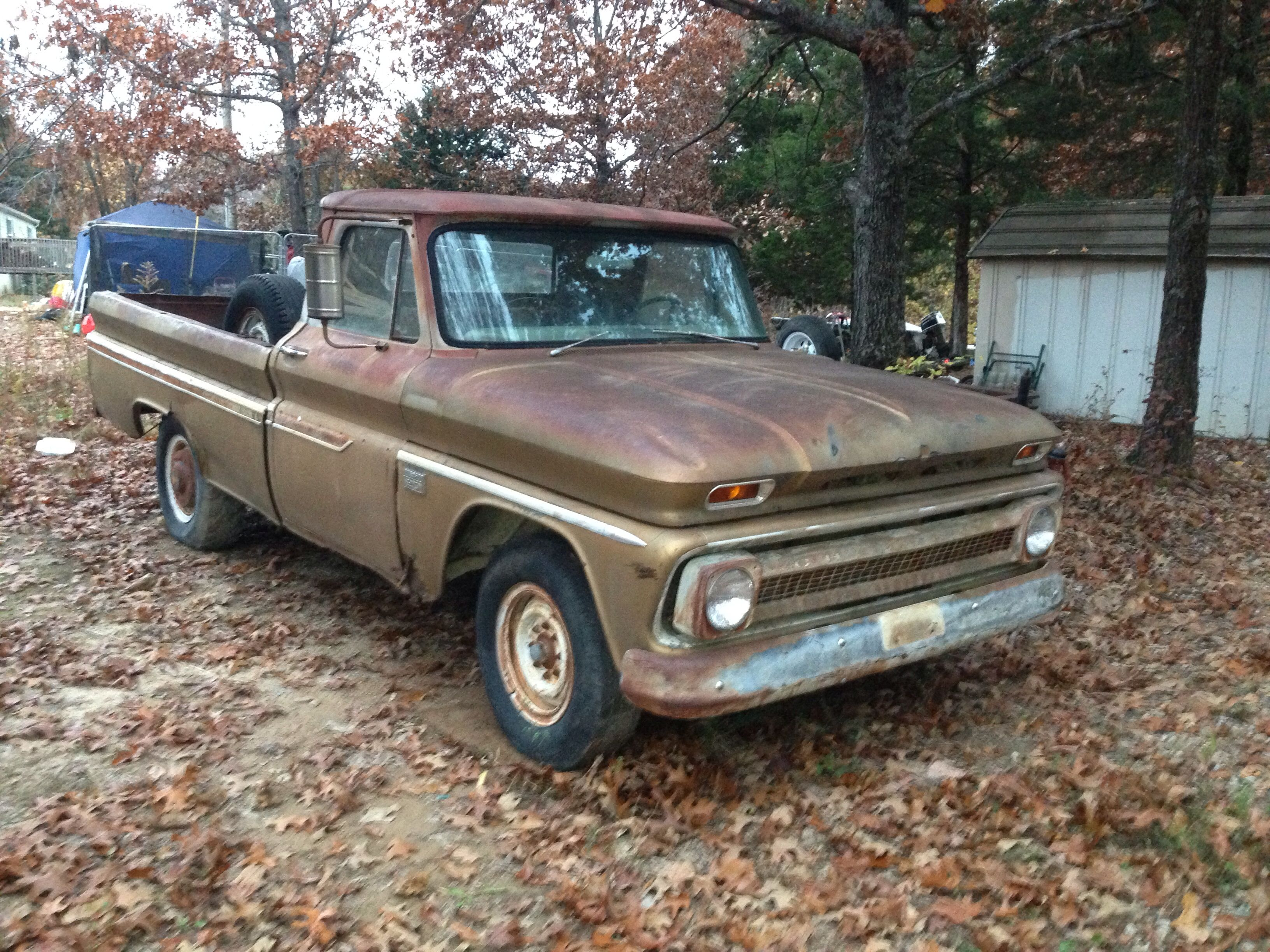 66 chevy C20 no title just a bill of sale but love the patina on ...