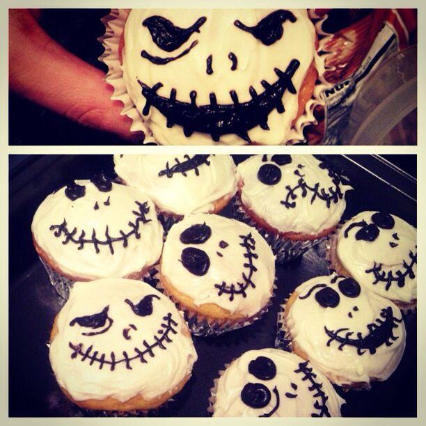 Jack Skelington cupcakes ☺️