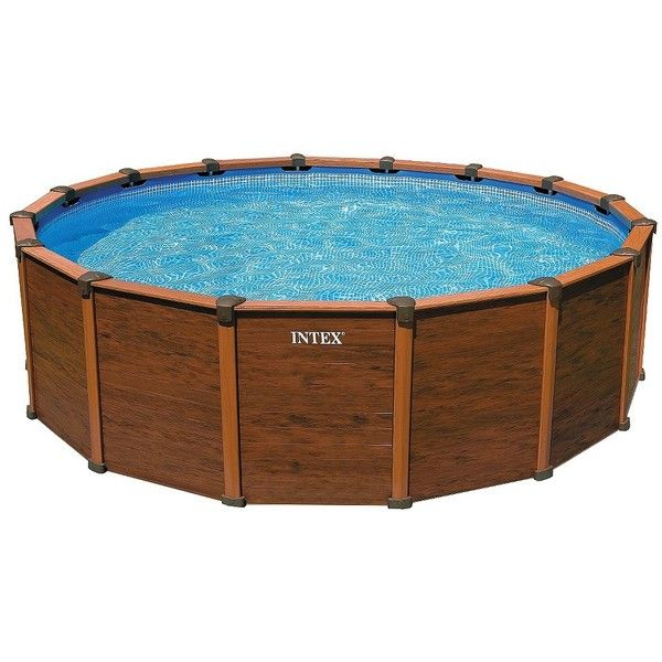 Amazing INTEX Wood Grain Pool 18ft X52in ($1,169) ❤ Liked On Polyvore Featuring  Furniture And